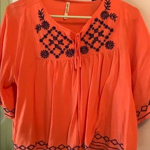Leshop flowy printed blouse